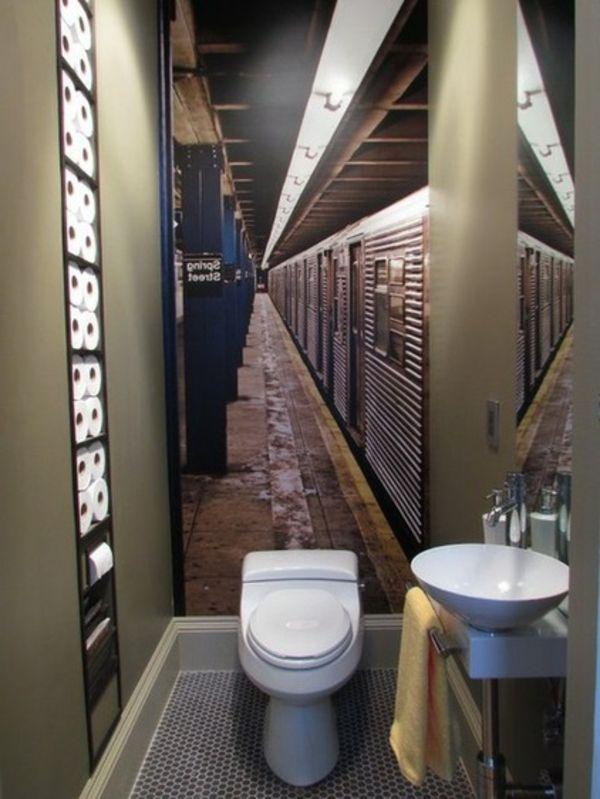 Einrichtung eines kleinen Badezimmers toilette waschbecken idee