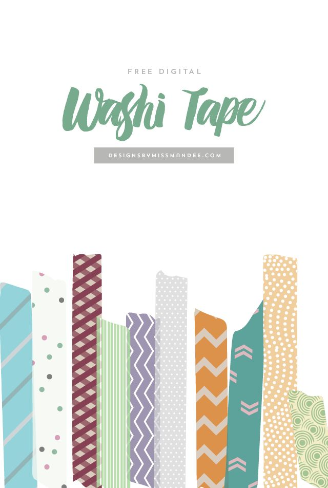 Free digital washi tape for all your crafting needs. These cute pieces of washi tape clip art are perfect for digital scrapbooking and as picture overlays.