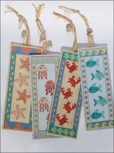 Cross-Stitch - Gift & Keepsake Patterns - Seaside Bookmarks