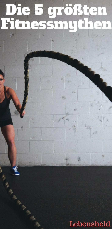 Die 5 größten Fitnessmythen - So umgehst du sie!