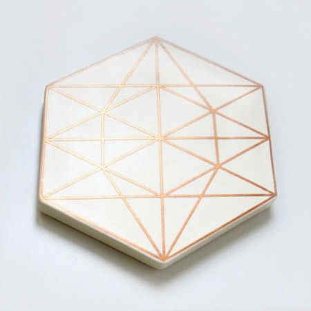Xenia Taler's copper + white tiles.