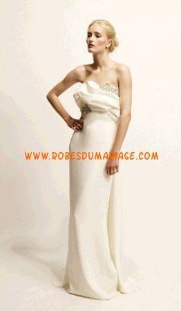 Marchesa robe de mariée bustier robe de mariée longue ivoire glamour satin