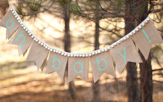 Oh, Baby Burlap Banner, burlap baby banner, baby shower, photo prop on Etsy, $28.00