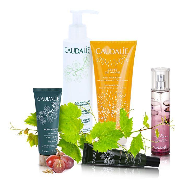 Produse cosmetice naturale din podgoriile franceze! Componenta principală a tuturor produselor Caudalie este uleiul din semințe de struguri, care este cel mai puternic antioxidant vegetal. Mulțumită cosmeticelor Caudalie poți lupta în mod eficient împotriva imperfecțiunilor și îmbătrânirii pielii, având un puternic efect de regenerare.
