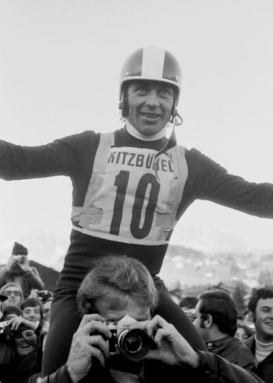 Sternstunden in Kitzbühel: Nach 1969 triumphierte Karl Schranz auch drei Jahre später auf der Streif. Mehr Fotos finden Sie hier: http://www.nachrichten.at/nachrichten/fotogalerien/cme155574,982555 (Bild: Schaad)