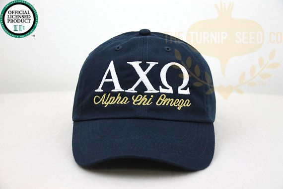 Ladies Baseball Cap with Greek Letters and the Name Spelled Out Underneath. You can pick your school color, sorority color...wish she carried SAO!