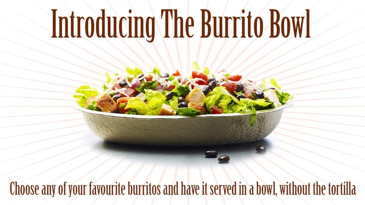 In-store tomorrow. The Burrito Bowl. Have any of your favourite burritos, without the tortilla - in a bowl :) from $9.95
