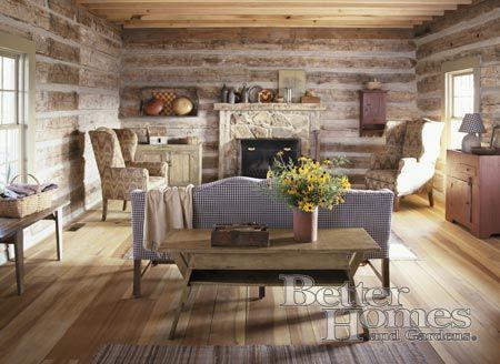 Farmgirl Follies Living Room In Log Cabin