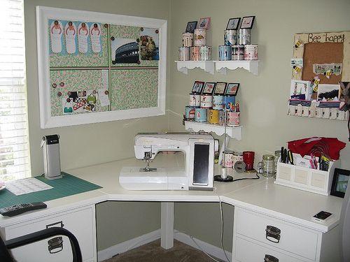 Craftrooms - Ideias e sugestões para cantinhos de costura