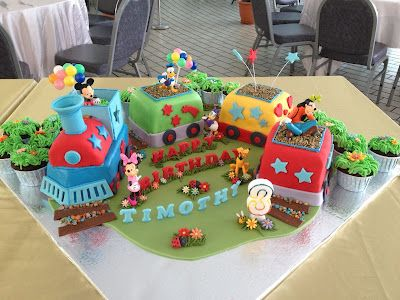 Joyous Cake Company: Mickey Mouse and friends in choo-choo train!