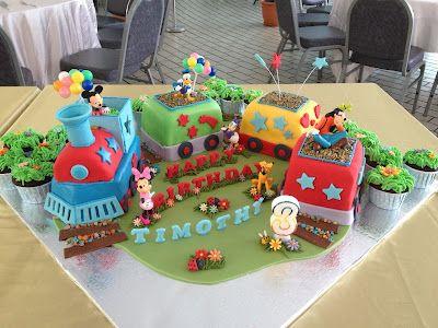 Joyous Cake Company: Mickey Mouse and friends in choo-choo train!