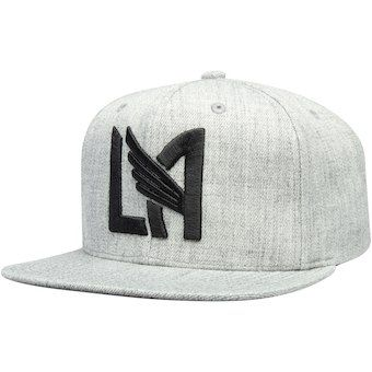 online retailer 3f446 ffb09 Men s LAFC Mitchell   Ness Gray Logo Snapback Adjustable Hat