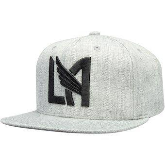 c377babd8e3fac Men's LAFC Mitchell & Ness Gray Logo Snapback Adjustable Hat ...