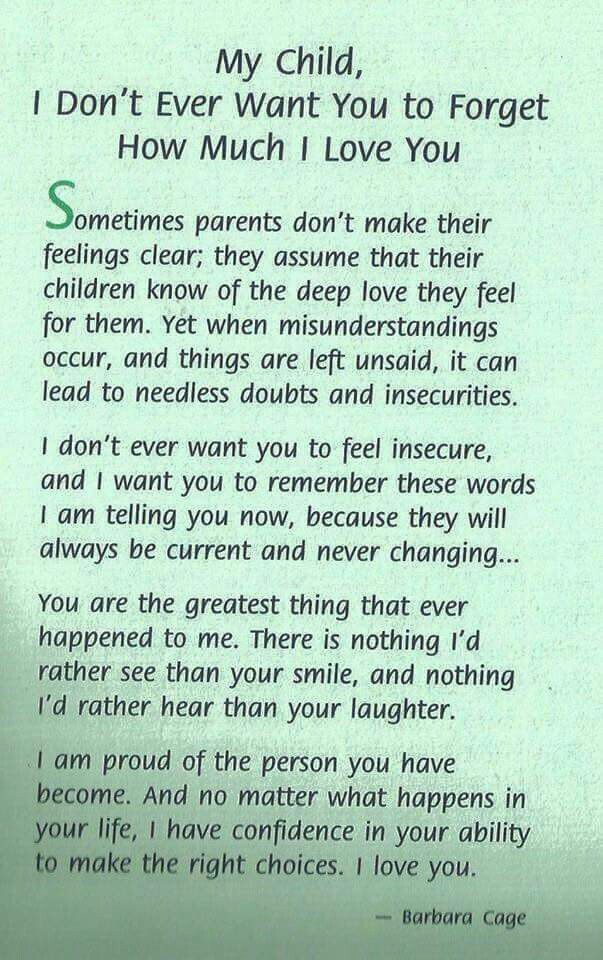 Why parents need to make their emotions clear to their children.