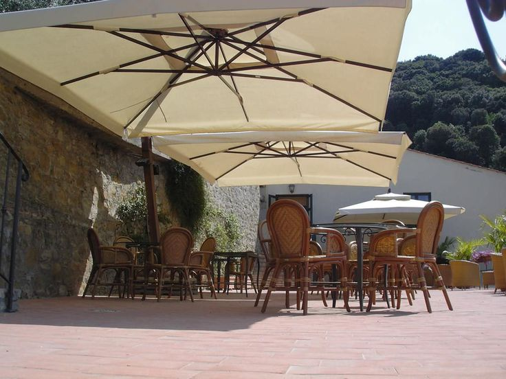Find This Pin And More On Restaurant Patio Umbrellas By Shade Experts.