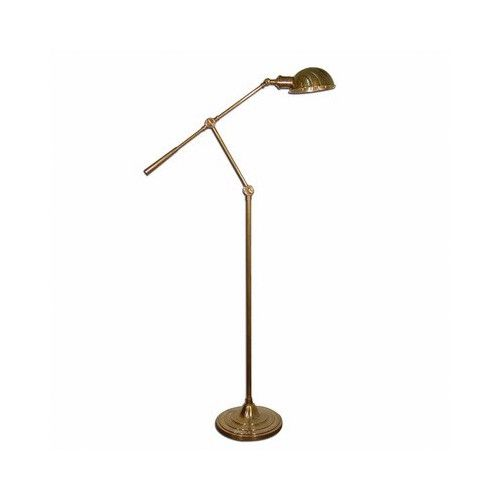 Emac & Lawton Calais Adjustable Floor Lamp in Antique Brass