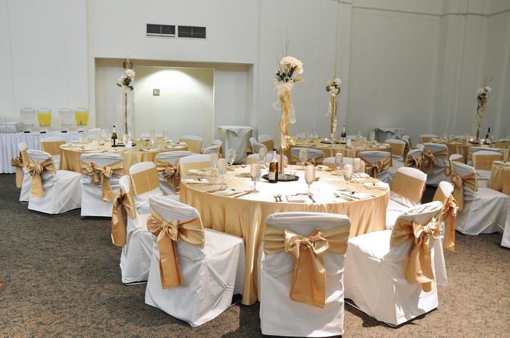 Wedding Reception Decor - Gold And Ivory