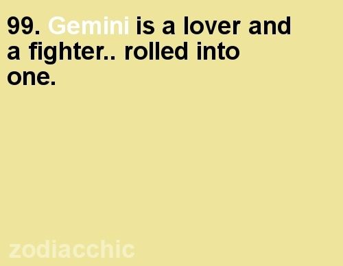 Gemini:) LoVeR...FiGhTeR... mostly LOVER