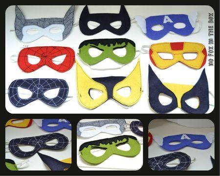 Masques de super héros !
