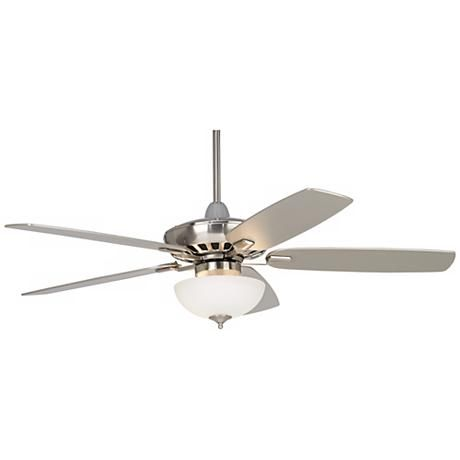 "52"" Casa Vieja Journey® Brushed Nickel Ceiling Fan"
