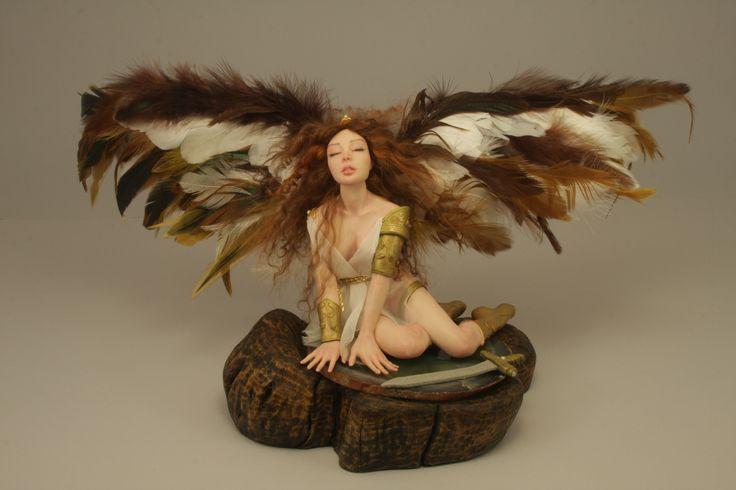 Lucrèce The Good Fighter - Ooak doll Angel by Elettra Land