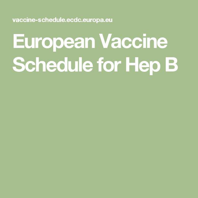 European Vaccine Schedule for Hep B