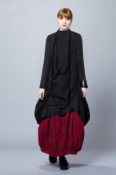 L/S Jupiter Dress in Black Tokyo
