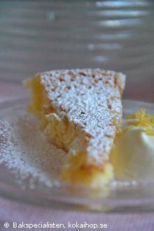 Syrlig citronkladdkaka