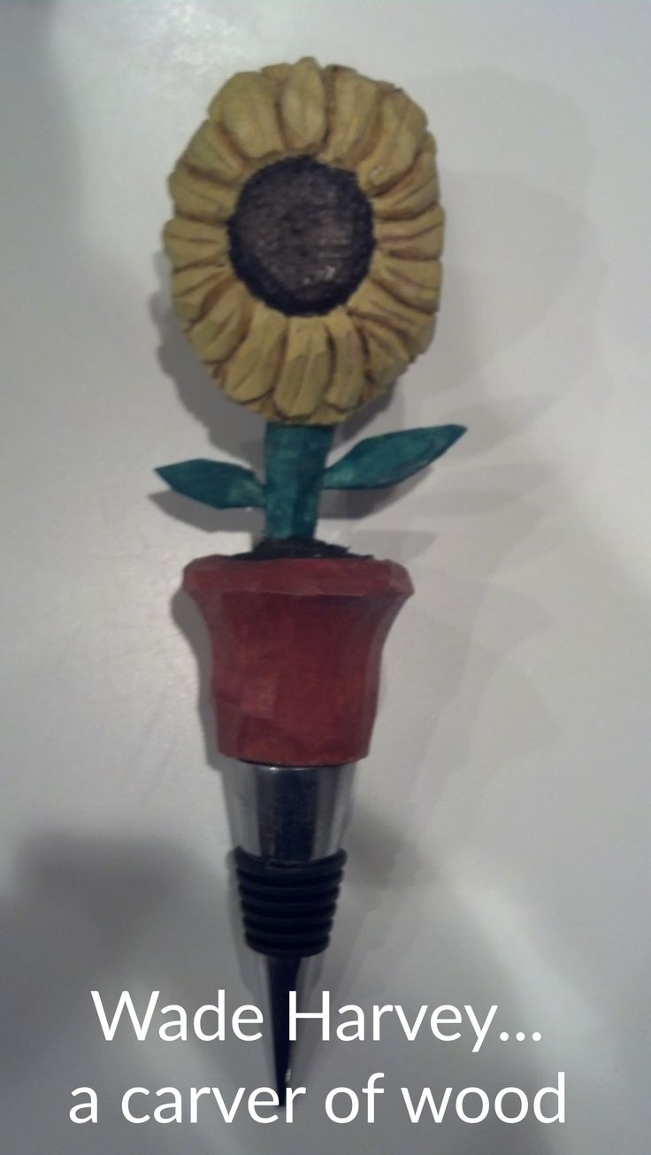 Some newly carved Bottle Stoppers. Carved from basswood and finished with acrylics and Watco wax. Thanks for looking.
