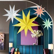 30 см 1x сложенный лист бумаги звезда фонари 3D висит бумага звезды для свадьбы День рождения души дома Вечеринка Декор окна(China (Mainland))