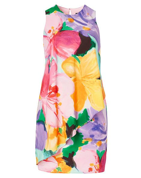 Floral-Print Crepe Dress - Lauren Woman Skirts & Dresses - RalphLauren.com