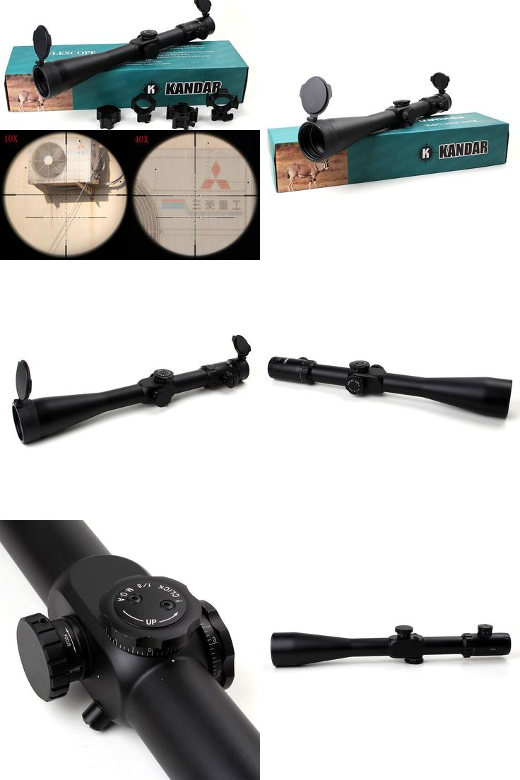 [Visit to Buy] KANDAR 10-40x56 SFIR Hunting Shooting Rifle Scope Glass Etched Side Parallax R/G Illuminated Riflescope with Two Styles Rings #Advertisement