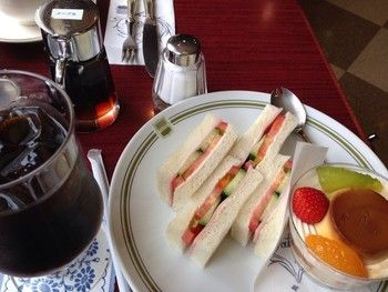 「タカセ 池袋本店」料理 1086009 レディースセット、アイスコーヒー/ 980円