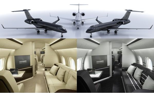 Tailor made private jets from Brabus Private Aviation | Designbuzz : Design ideas and concepts