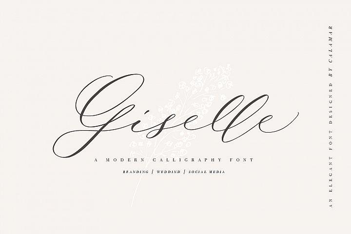 Giselle Script Wedding Fonts Script Christmas Fonts