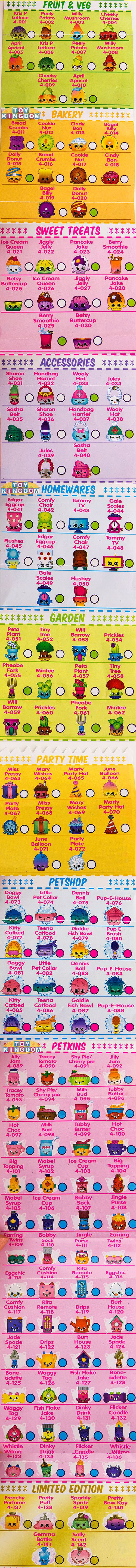 Shopkins Season 4 Checklist