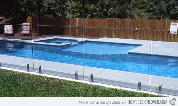 Removable Fence Design If We Need It For Renting Not Sure Also Similar Pool Design Tho Smaller 15 F Lap Pools Backyard Lap Pool Designs Small Backyard Pools