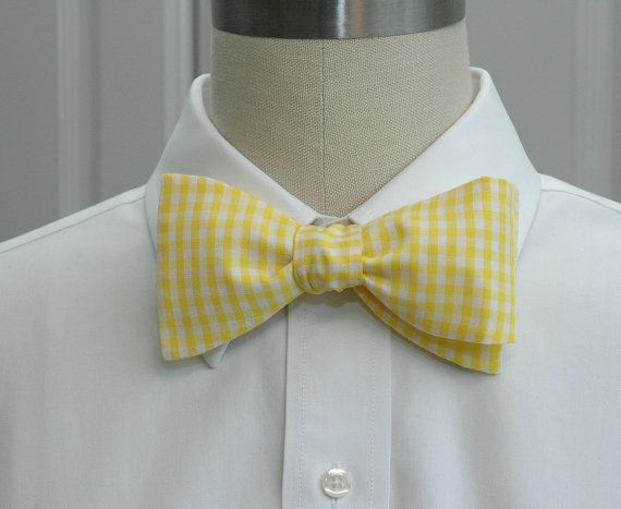 Hey, I found this really awesome Etsy listing at https://www.etsy.com/listing/100310732/mens-bow-tie-in-yellow-gingham