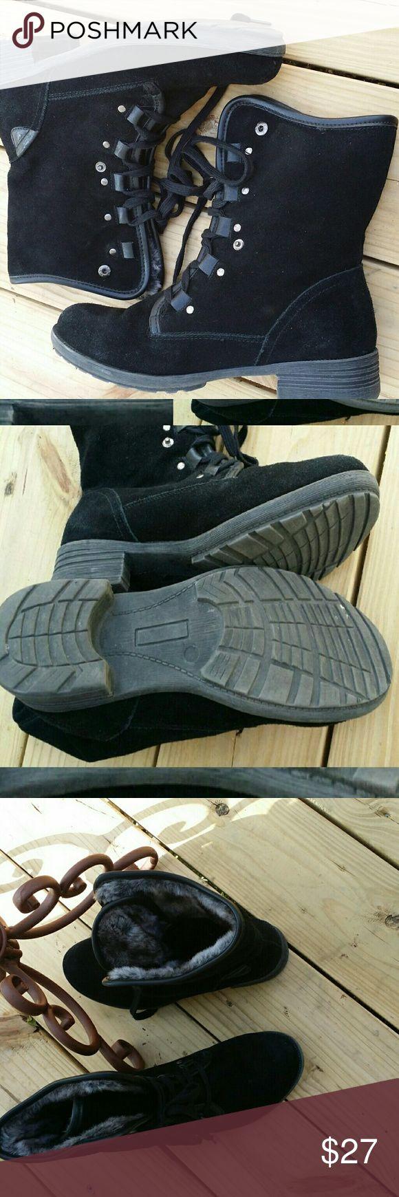 FLASH SALE 🚨 Aldo boots Aldo black lace up mid-cal boots. Size 9 Aldo Shoes Lace Up Boots