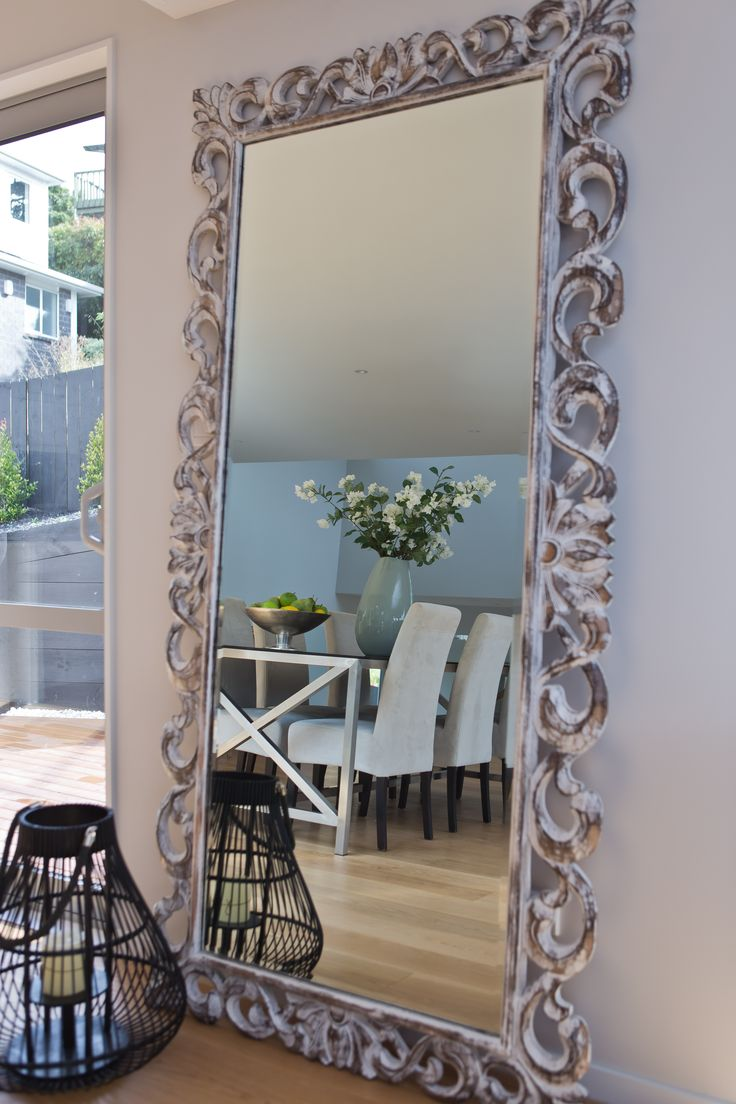 Home Staging | Interior Design Grand Silver Mirror