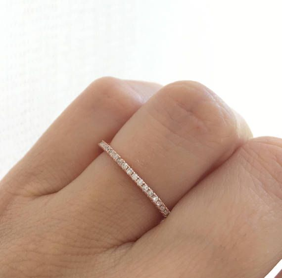 Rose Gold Eternity Ring. Full Eternity Ring. Stacking Ring.