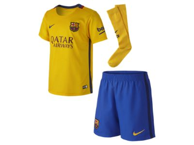 2015/16 FC Barcelona Stadium Away (3y-8y) Little Kids' Football Kit