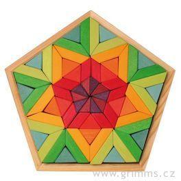 Puzzle pětiúhelník vodní lilie, 70dílů