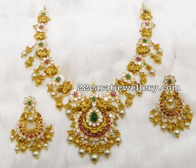 150gms Pachi Necklace Chandbalis