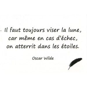 Carte Postale - Citation d'Oscar Wilde
