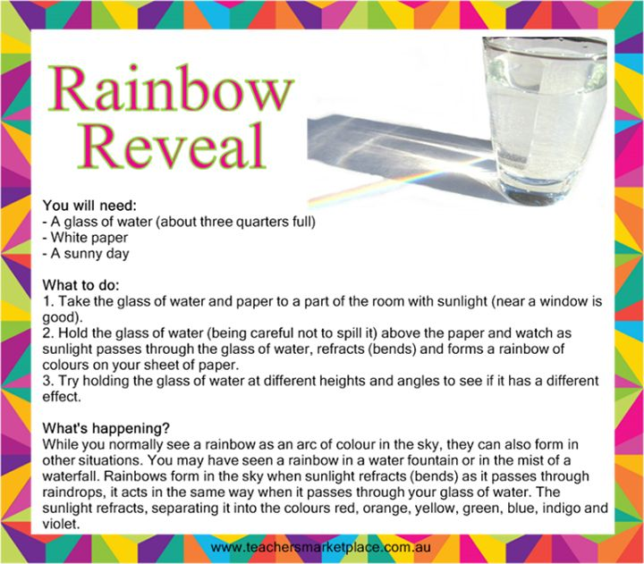 Sunday Science: Rainbow Reveal