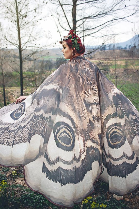 Moth Wings Costume Butterfly Cape Fairy Wings Festival Clothing Burning Man Moth Costume In 2020 Wings Costume Fantasy Costumes Butterfly Fairy