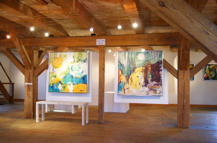 Visit the large summer gallery in Klintholm Harbour on Moen, near the white chalk cliffs, where more than 20 local artists and craftsmen exhibit pictorial arts , glass design, weaving, furniture design and ceramics, etc. in the old, atmospheric harbour warehouse. #visitmoen #denmarks #arts #crafts #culture #design #denmark #Moen #visitmonsklint