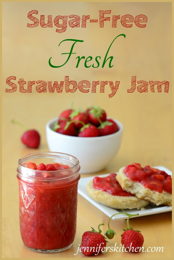 Sugar-free strawberry jam. No artificial sweeteners.