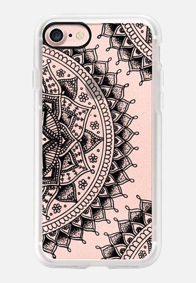 Pretty Lace Mandala Flowers (Transparent Black) iPhone 7 Case by Laurel Mae | Casetify